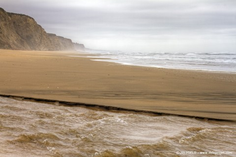 Fisherman at San Gregorio Beach