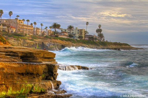 Movie of the sunset at La Jolla, California