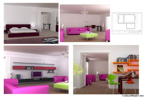 Design concept of Interior Design by Deloprojet