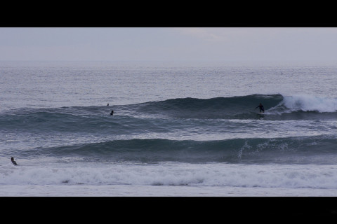 great surfing on the spot  La Palue in Bretagne