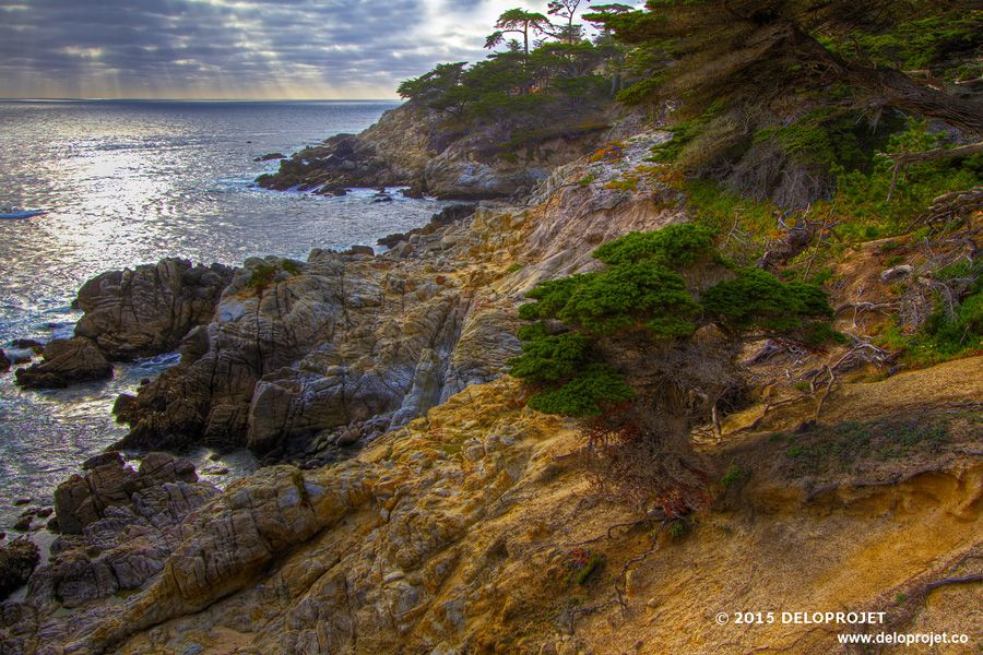 Coast of Monterey Peninsula, Carmel-by-the-sea, Ca
