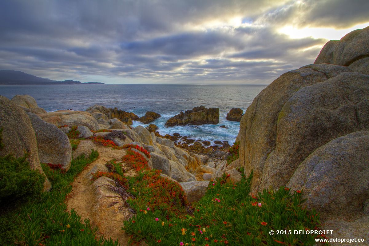 Sunset on the coast of Carmel By The Sea