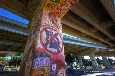 One afternoon in Chicano Park San Diego