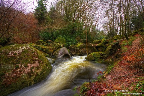 Huelgoat forest of earl and legends in Brittany