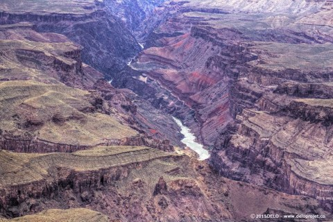 Grand Canyon has sometimes purple color effect