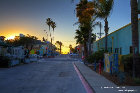 Sunset in Mission Beach, California