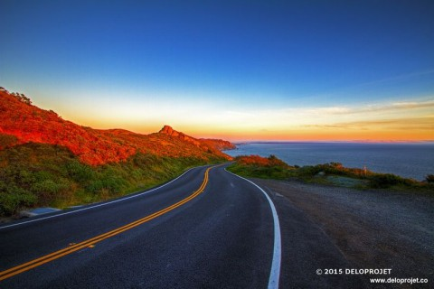 Sunset from the Pacific Coast Highway California