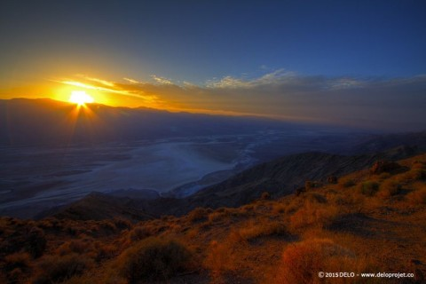 Sunset at Dante's View, Death Valley