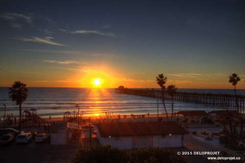 Oceanside Pier is a wonderful place to relax