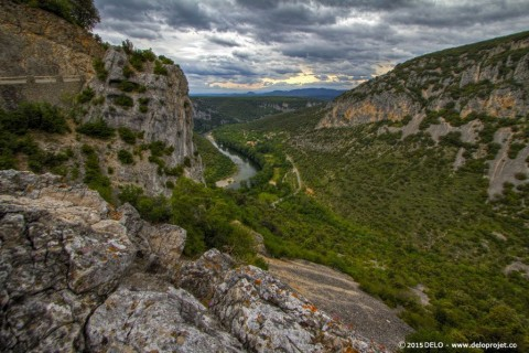 Gorges de l'Ardeche spectacular scenery of France