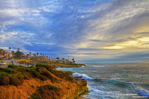 Amazing sunset photography  La Jolla California