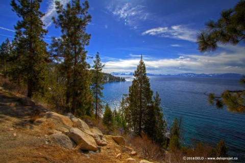 Amazing landscape of Lake Tahoe north California
