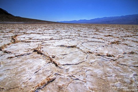 Badwater Basin, the wonder of nature in Death Valley