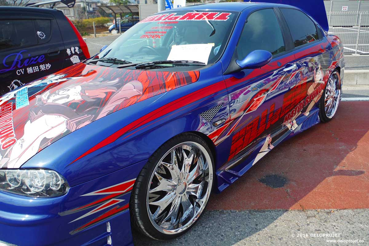 Itasha 痛車 literally painmobile is a japanese slang term for the otaku fad of decorating cars with anime decal these decorations tend to be extremely