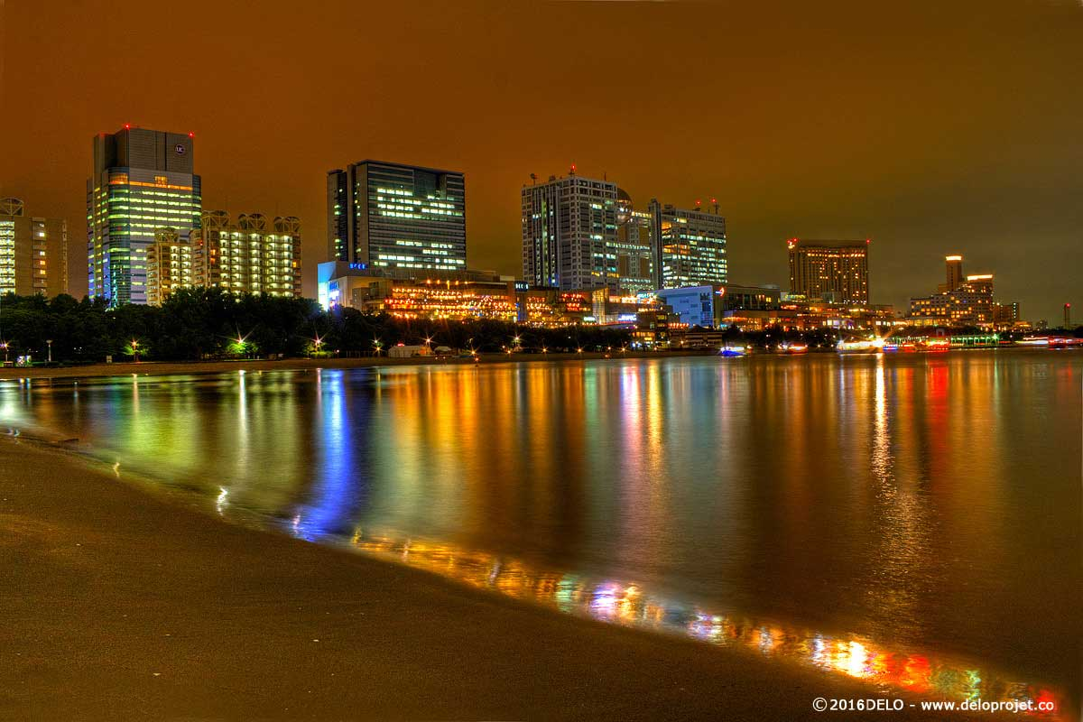 Japan Bridges Houses Odaiba Tokyo Night Cities | City Lights ...