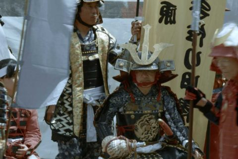 Yorii Hojo Festival staging of samurai battle