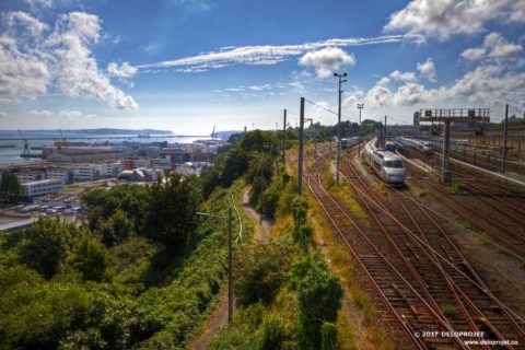 Walk around the train station of Brest, France