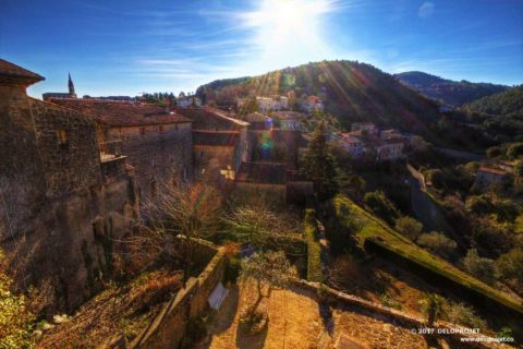 Banne village of Ardeche photography